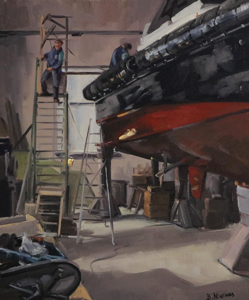 La lambarde au chantier Bernard. 65X54-15F. Béatrice ALIAMUS .