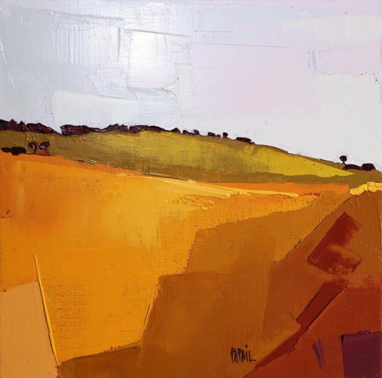 La douce colline. 30X30. Françoise PAPAIL