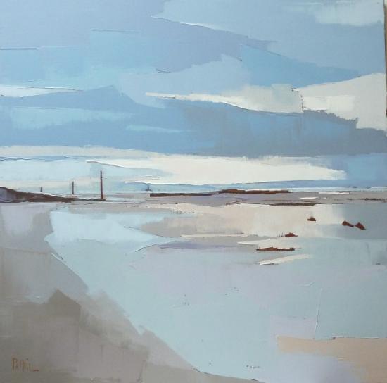La plage en hiver - 80x80 - F.PAPAIL.