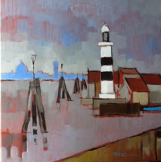 Le Faro. (60x60) . Pierre CARON.