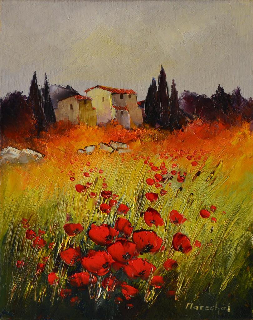 Provence brulante. ( 41X33 ; 6F) . Francis MARECHAL