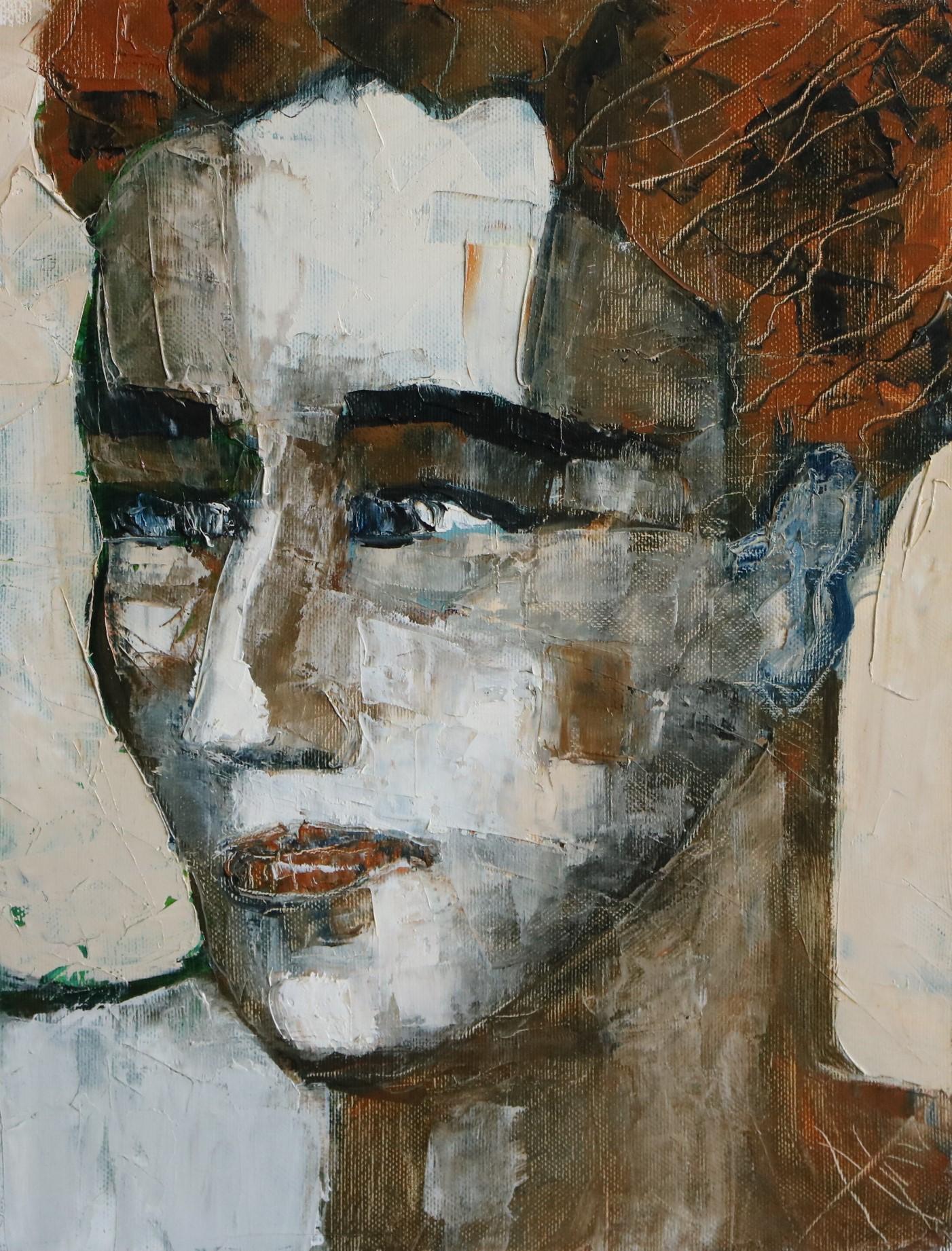 Rouquin aux yeux bleus. 35X27 -5F-. Nadine SALEM