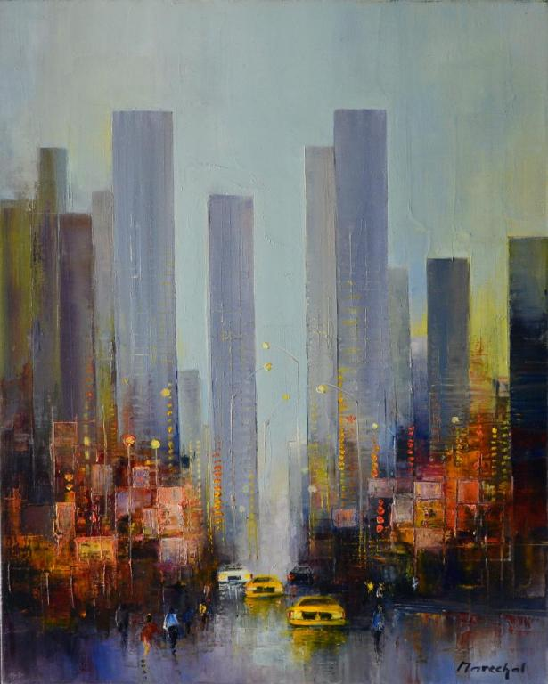 Time Square. (61X50 ; 12F) . Francis MARECHAL