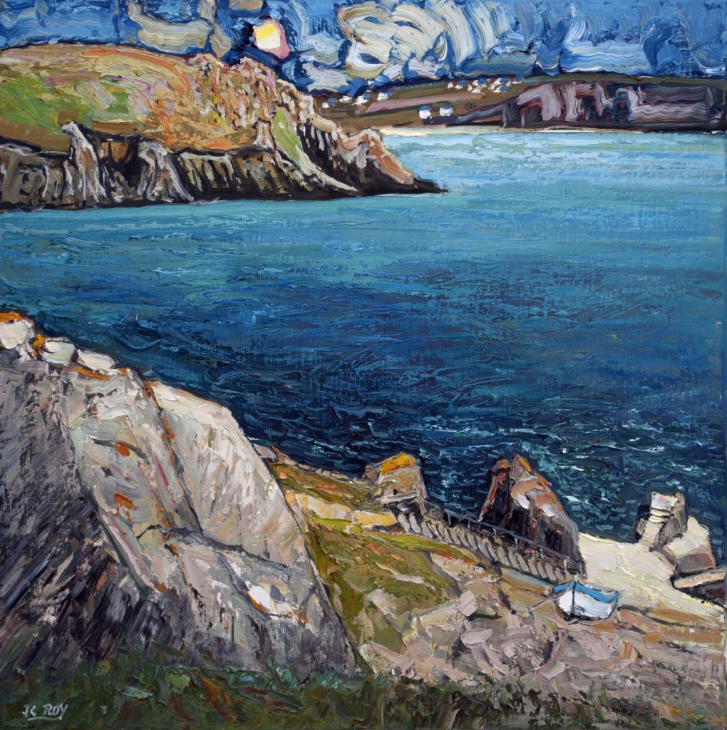 Pointe du Van. 60X60. Jean-Claude ROY.