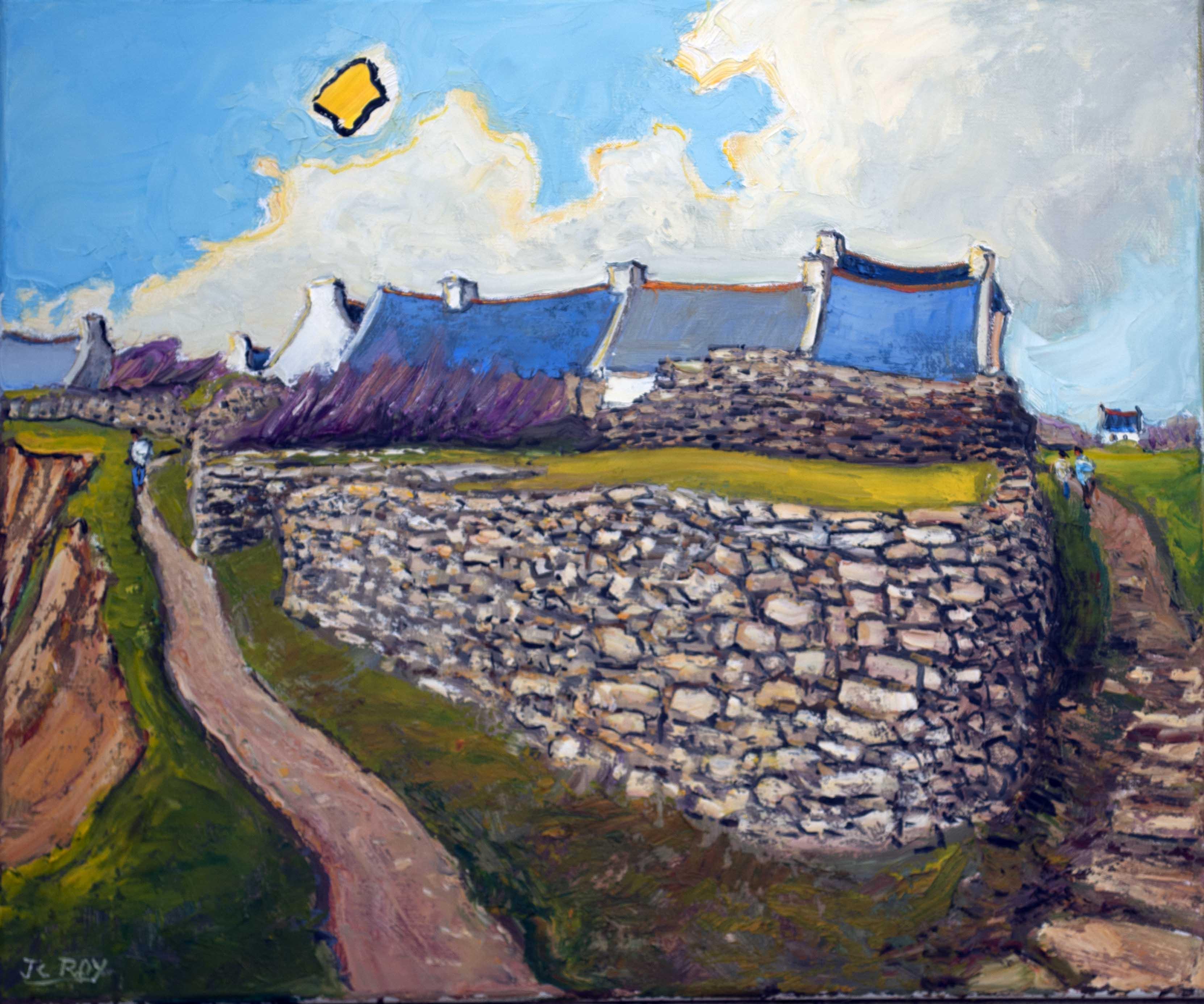 A la Croisée de Sentiers, Plozévet. 65X54 - 15F. Jean-Claude ROY.
