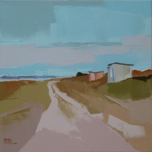 Abri dans la dune. 30x30. Françoise PAPAIL.