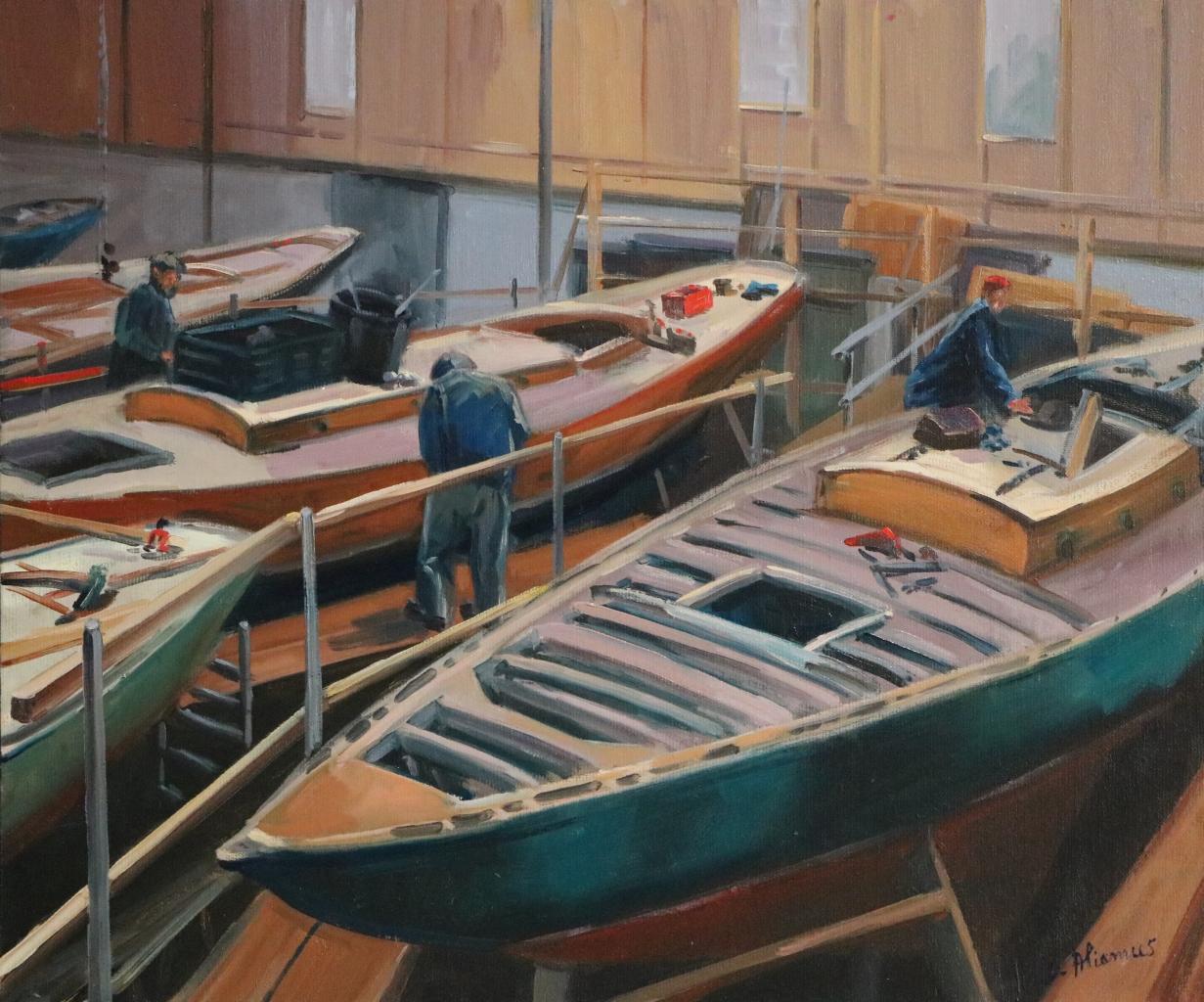 Yachts classiques. 55X46-10F. Béatrice ALIAMUS.