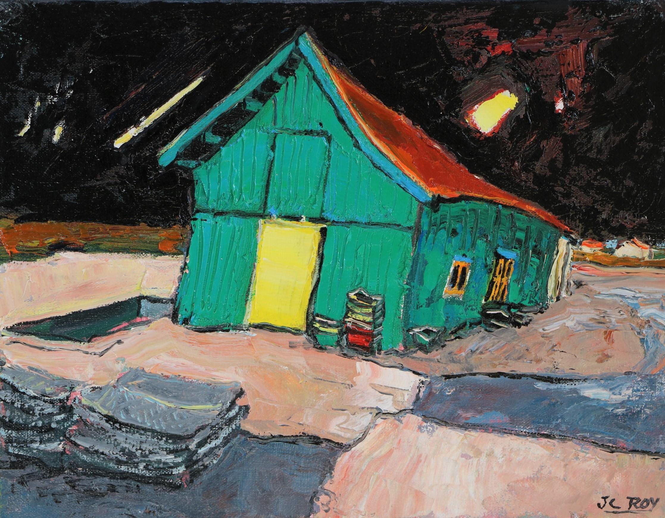 Cabane verte - La Tremblade. 35X27 - 5F - Jean-Claude ROY.