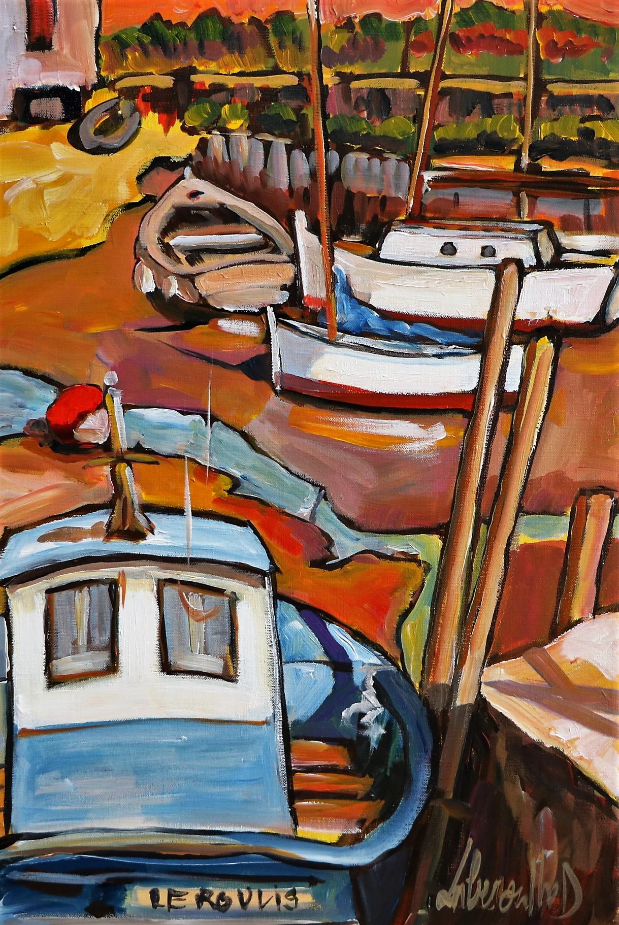 Chenal, marée basse. 40X60. Dominique LABESSOULHE