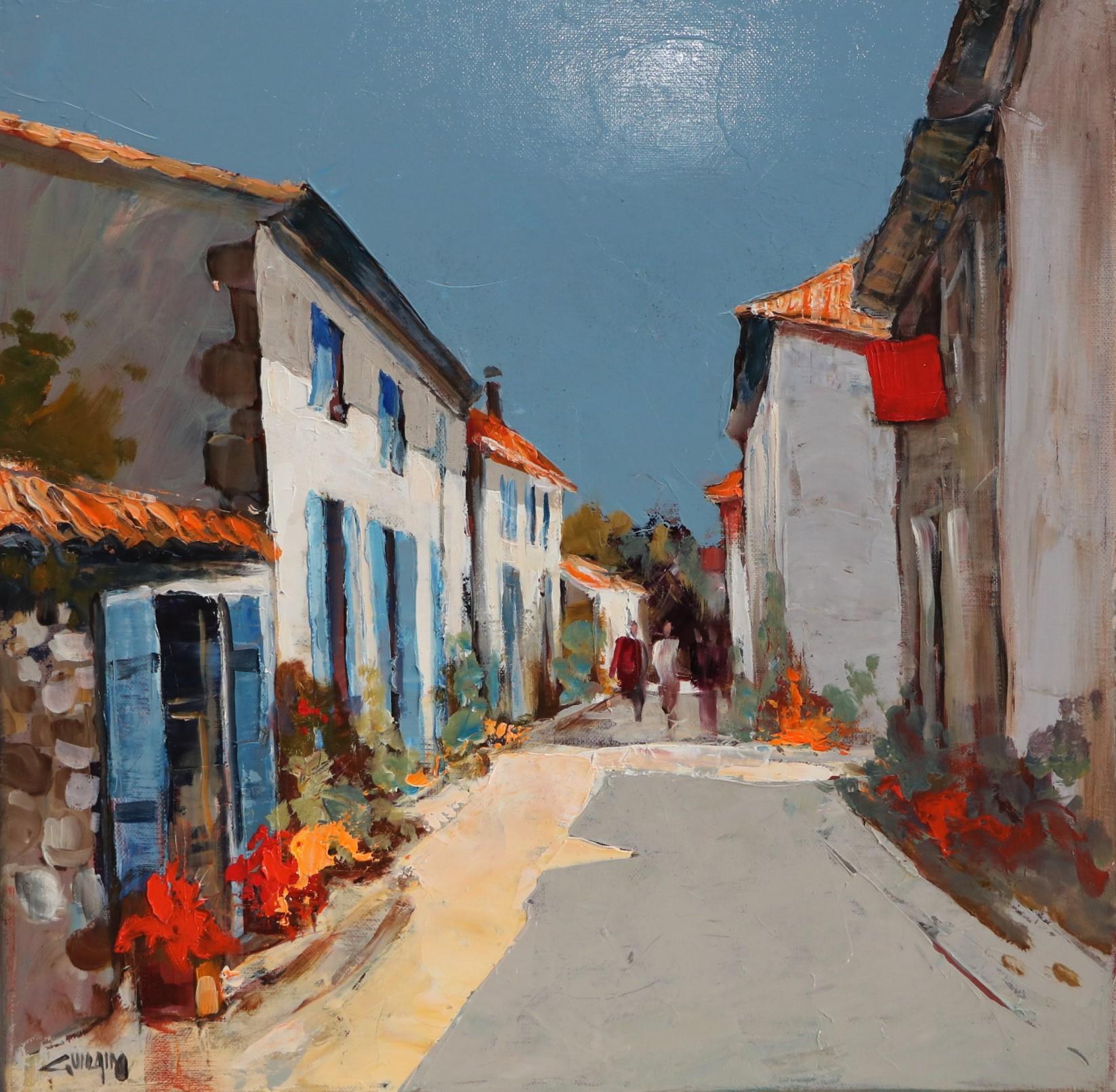 Ciel bleu, Talmont. 40X40. Bernard GUILAIN.