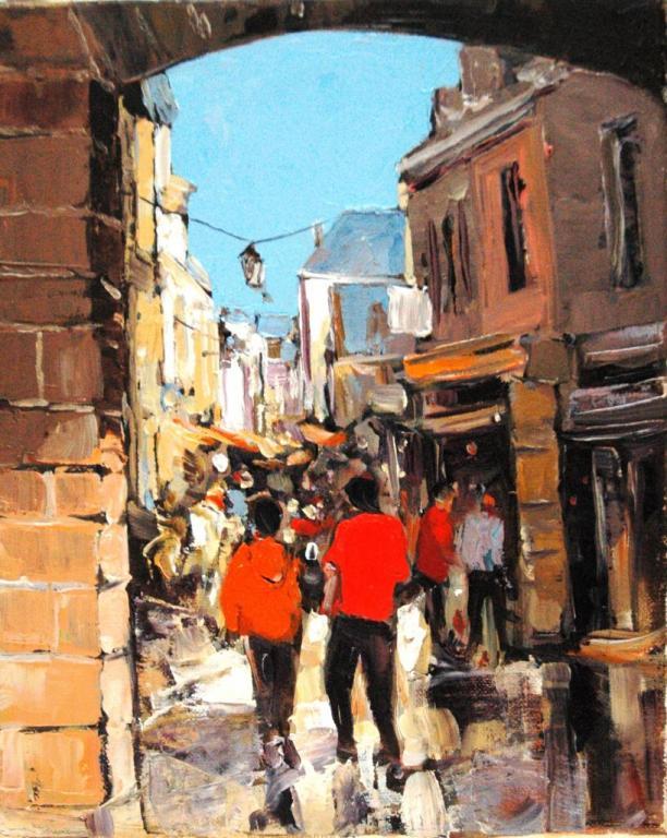 Concarneau - la ville close. ( 22x27 - 3F) . Bernard GUILAIN.