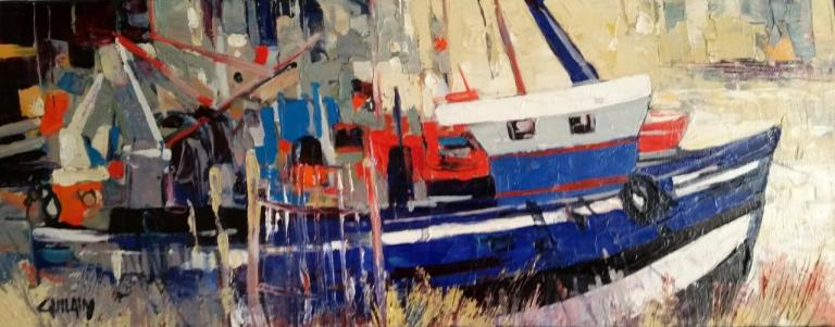 Chalutier à Mers (50X20) . Bernard GUILAIN.