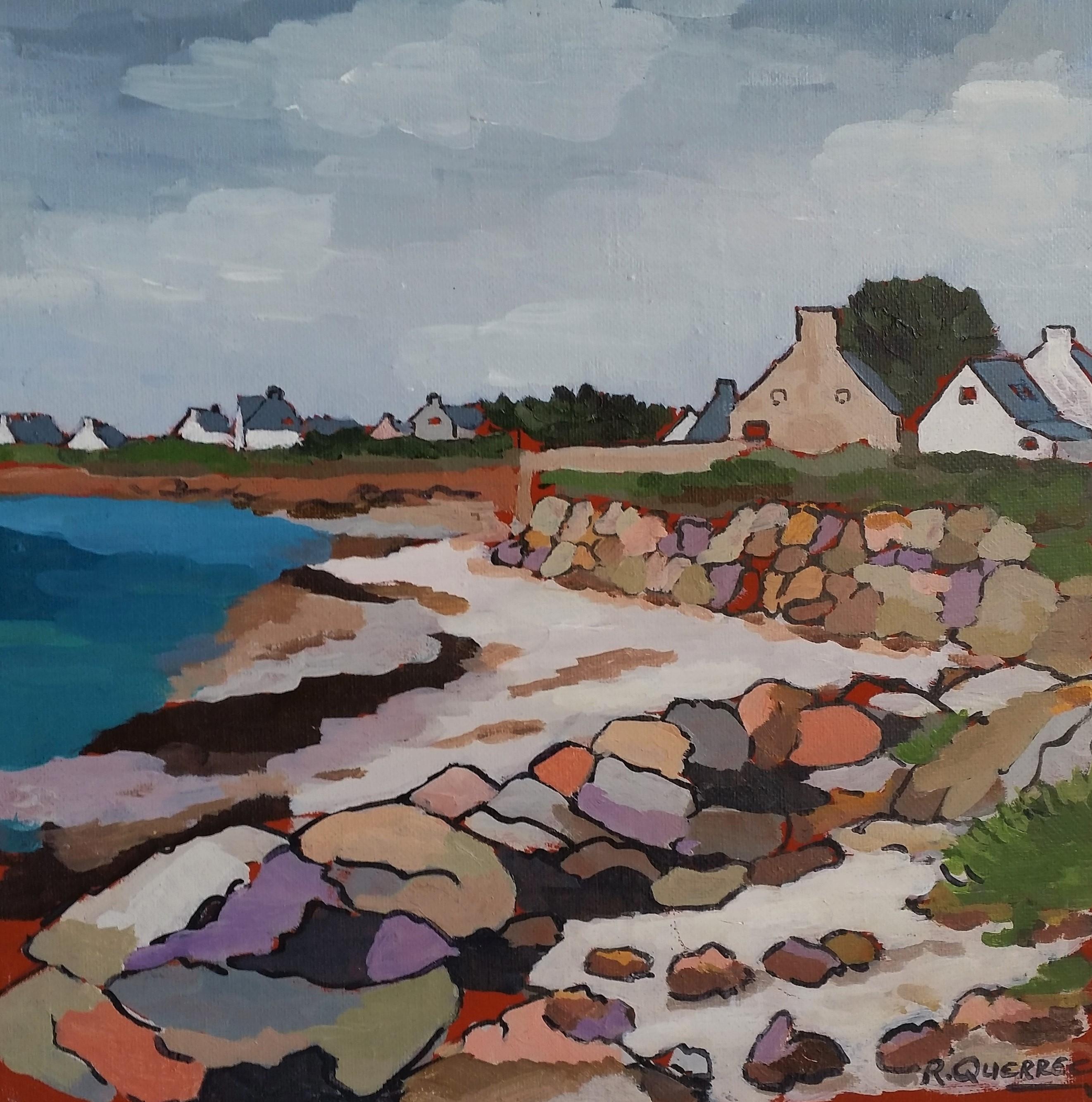 La côte à Larvor - loctudy. 30x30. René QUERREC.