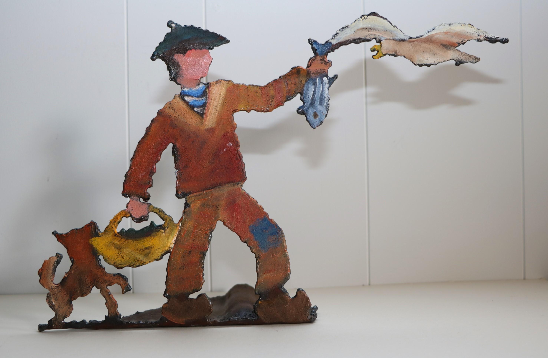 La mouette. Sculpture sur tôle. Dominique LABESSOULHE.