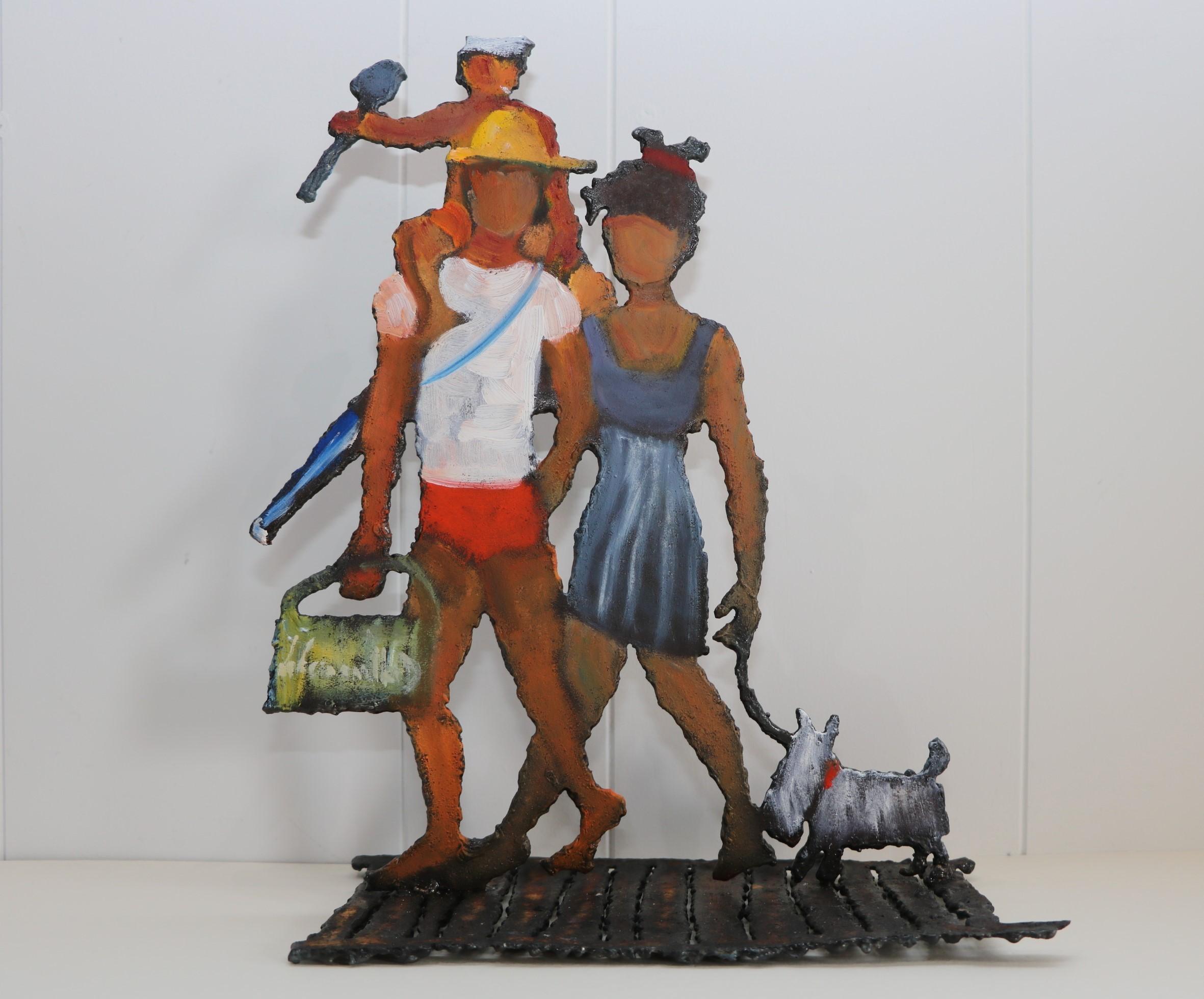 Les planches. Sculpture sur tôle. Dominique LABESSOULHE
