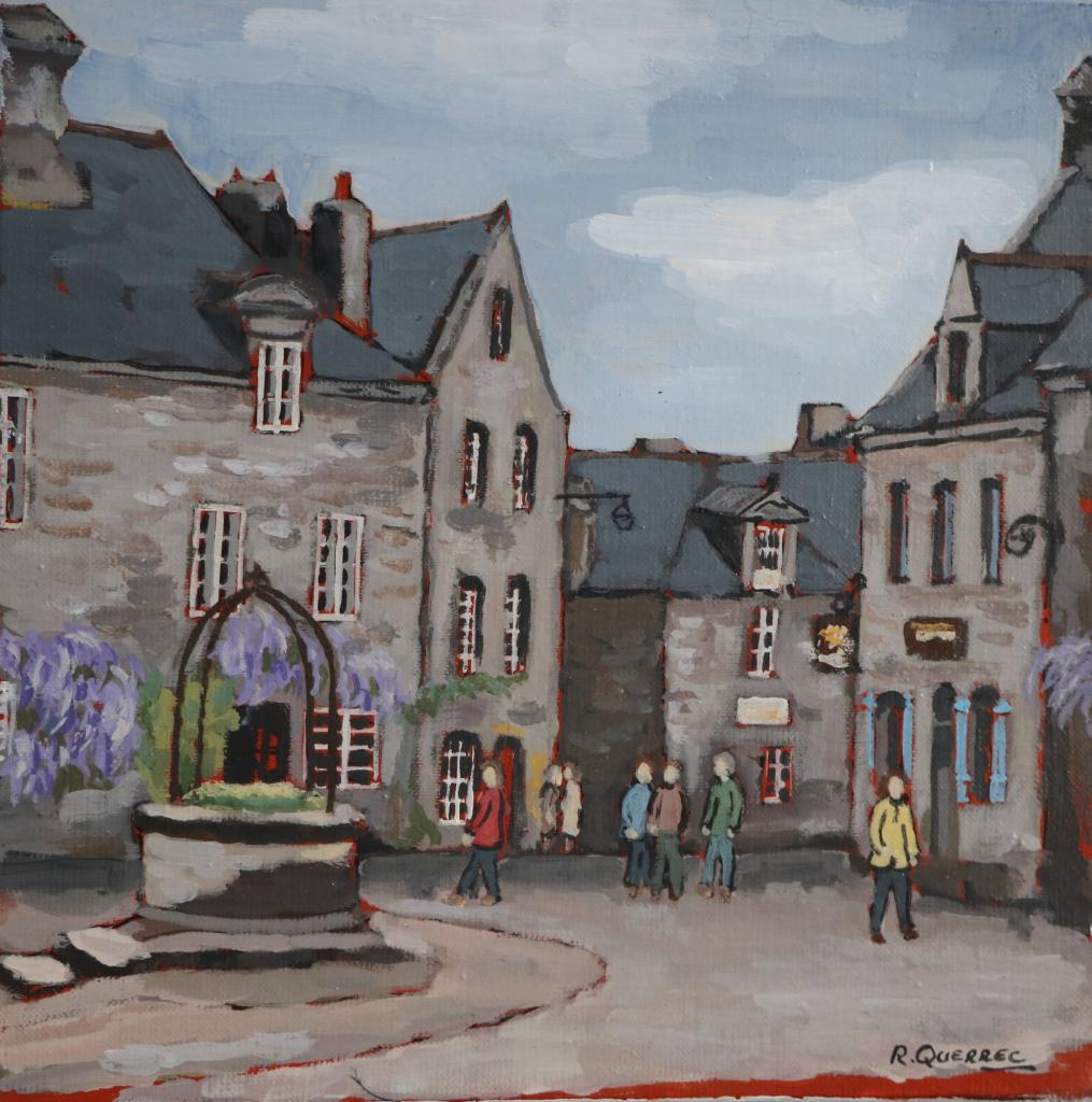 Locronan. 30X30. René QUERREC.