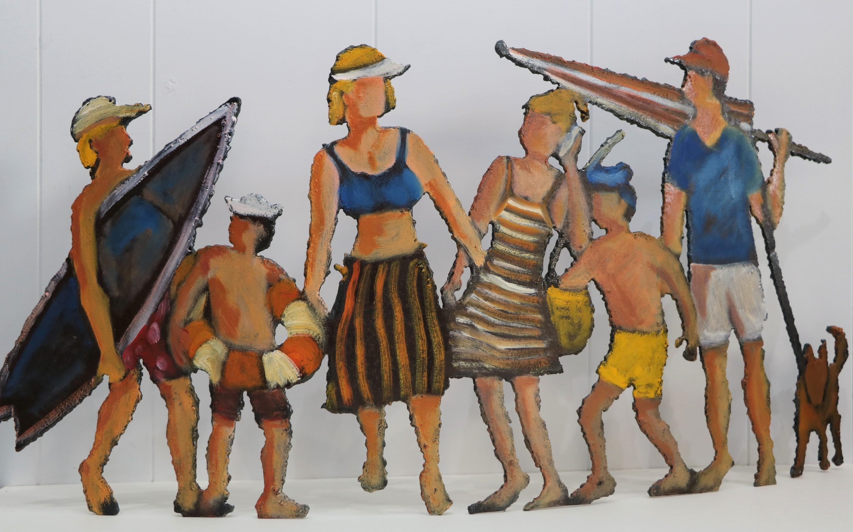 Retour plage. Sculpture sur tôle. Dominique LABESSOULHE.