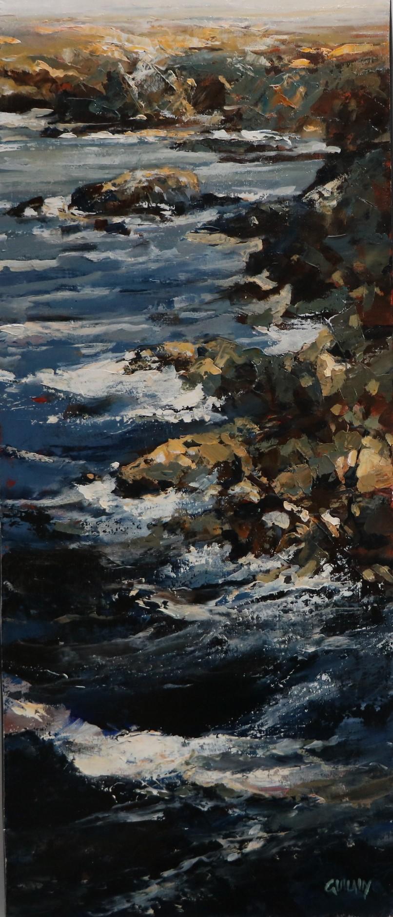 Rochers à Quiberon. 30X70. Bernard GUILAIN. V