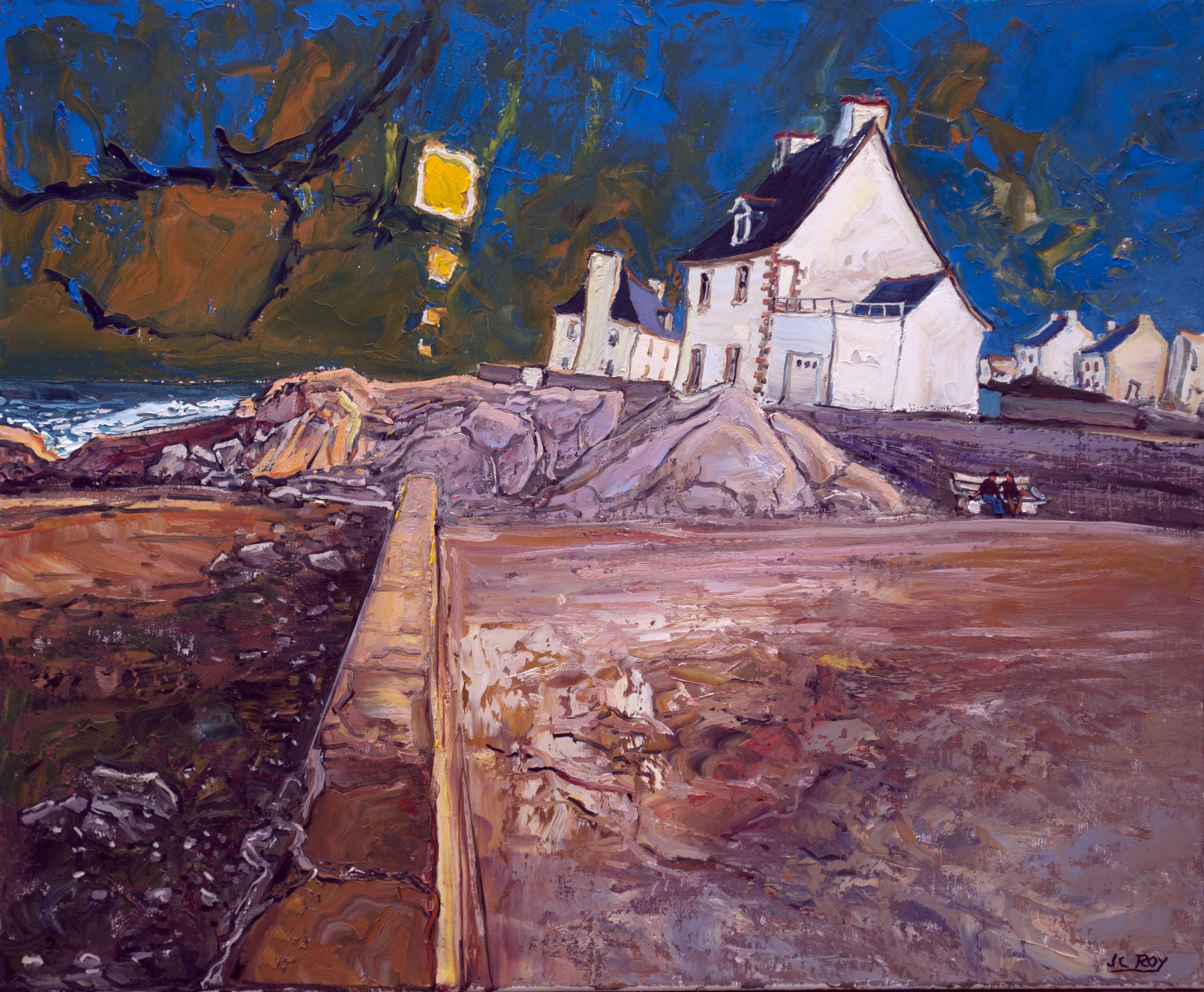 Saint- Guénolé. 63X60 - 20F. Jean-Claude ROY.