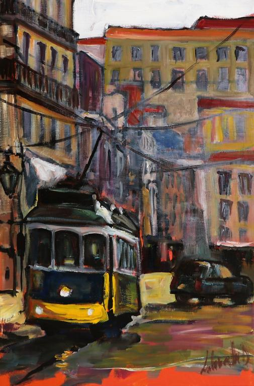 Tramway 15. 40X60. Dominique LABESSOULHE.