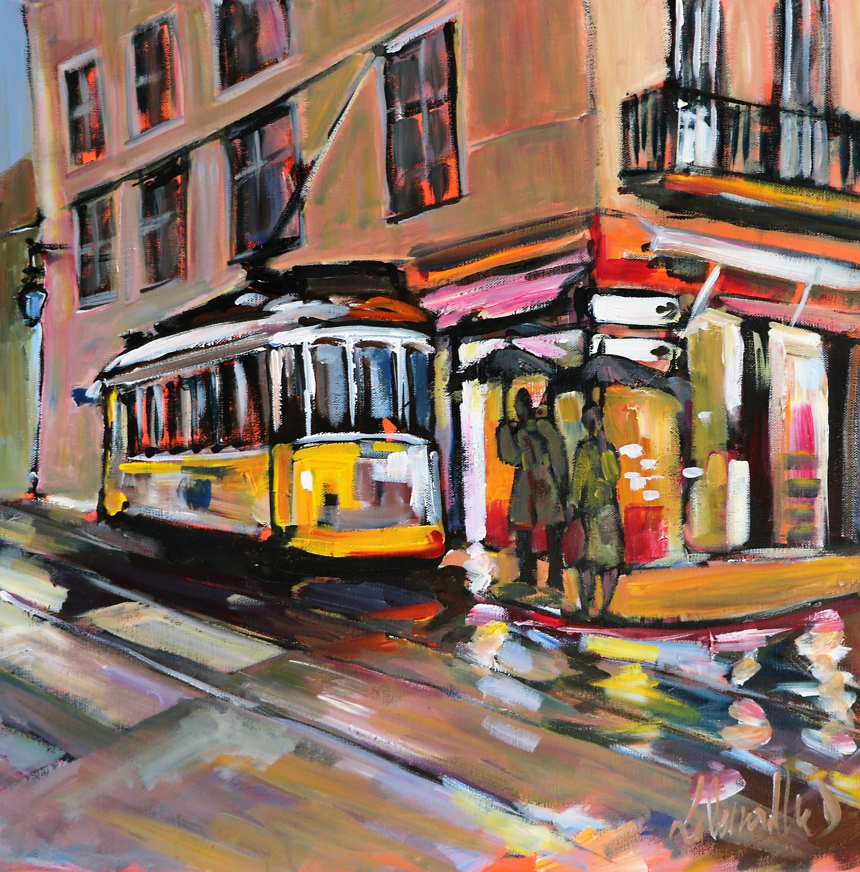 Tramway 25. 50X50. Dominique LABESSOULHE.