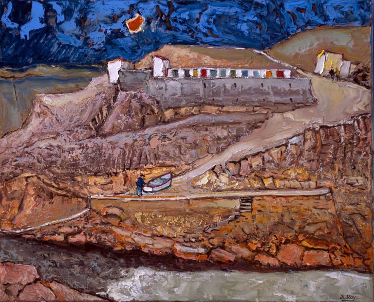 Vieux Port Breton. 66X54 - 15F. Jean-Claude ROY.